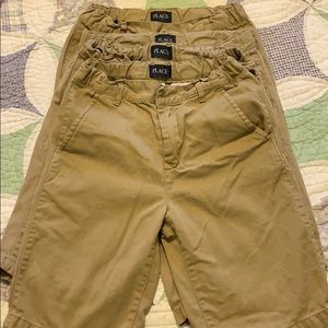 Four pairs of Children's place khaki shorts